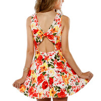 Papaya Clothing Online :: BACK BOW FLORAL FLARE DRESS