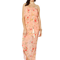 Papaya Clothing Online :: FLORAL ROPE CHIFFON MAXI DRESS
