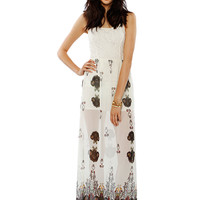 Papaya Clothing Online :: FLORAL LACY PAISLEY CHIFFON MAXI DRESS