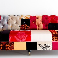 chesterfiled sofa patchwork by namedesignstudio on Etsy