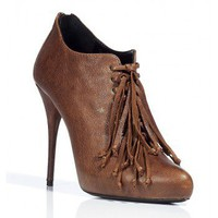 BALMAIN Tabac Fringed Booties