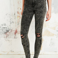 Cheap Monday Spray On High-Rise Jeans in Grey Scratch - Urban Outfitters