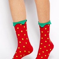 ASOS Strawberry Ankle Socks