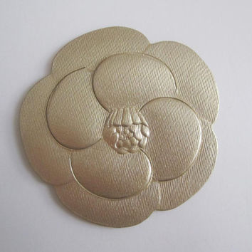 Sale** Authentic CHANEL Gold Paper Camellia Flower Sticker / Gift Wrapping / Paper Craft / Card / DIY