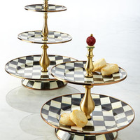 MacKenzie-Childs Courtly Check Tier Sweet Stands