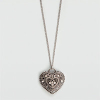 FULL TILT Puff Heart Necklace      188811140 | necklaces | Tillys.com