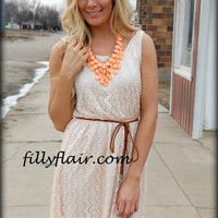 Way back beige dress - Filly Flair