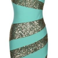 Sequin Mint Dress
