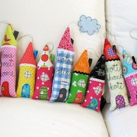 My village a collection of 10 soft houses by syko on Etsy