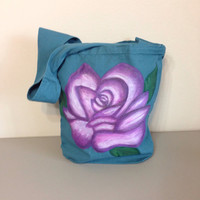Purse with Hand Painted Rose