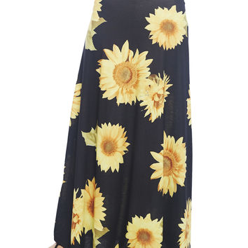 Sunflower Maxi Skirt | Wet Seal