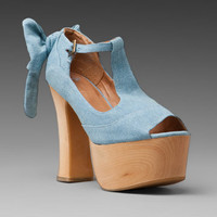 Jeffrey Campbell for WILDFOX COUTURE Dallas Peep Toe in Denim at Revolve Clothing - Free Shipping!