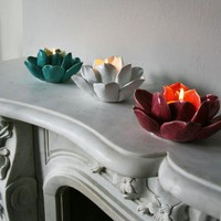 Lotus Tea Light Holders - Candelabras &amp; Candle Holders - Lighting