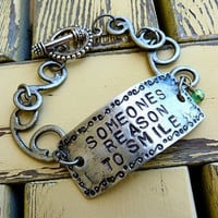 Someones Reason to Smile Bracelet by Crafting4Cause on Etsy