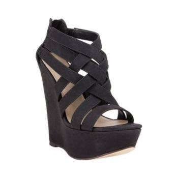 XCESS BLACK women's sandal high wedge - Steve Madden