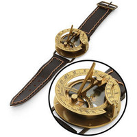 ThinkGeek :: Navitron Steampunk Wrist Compass and Sundial