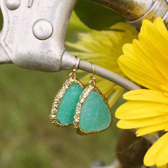 Sweet Mint Druzy Earrings, Women's Sweet Country Inspired Jewelry