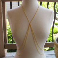 Delicate GOLD statement body chain body by houseofmarissanicole