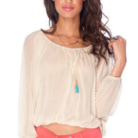 Bubblegum Top in Beige :: tobi