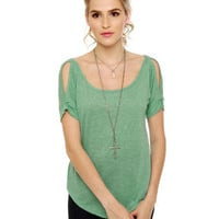 Alternative Apparel Jovana Top - Mint Green Top - Casual Top - &amp;#36;48.00