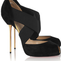 Christian Louboutin Crosspiga 120mm Patent Pumps Nude