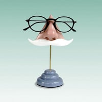 Nose Eyeglass Stand White Moustache by ArtAkimbo on Etsy