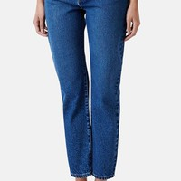 Topshop Moto Girlfriend Jeans (Blue)