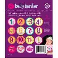 Belly Banter GIRL Onesuit Stickers Includes 12 month stickers plus 3 BONUS statement stickers