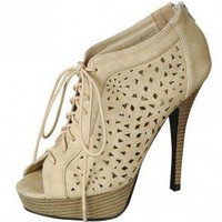 CUT OUT DESIGN LACE UP HEELS-Heels-prom heels,high heels shoes,leopard heels,hot pink heels,cheap heels,party shoes heels,sexy heels,Platform Heels,high heel pumps,Wedge Heels,Flat Heels