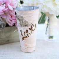 Birch Vase Mothers Day Gift Rustic Country Home Decor