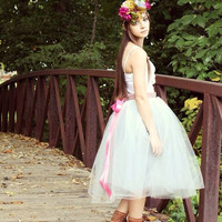 Sweet Sixteen Gray Tulle Gown