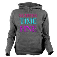 SUMMERTIME FINE Women's Hooded Sweatshirt