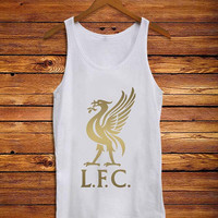 Liverpool Fc Gold _ Tank Top Men And Women Size S,M,L,XL,XXL Design By : mbedugal