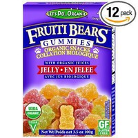 Let's Do Organic Jelly Gummi Bears, 3.5-Ounce Boxes (Pack of 12