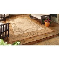 6x9 foot Reversible Patio Mat Beige