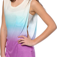 Empyre Lauryn Purple, Mint & Cream Ombre Muscle Tee Shirt