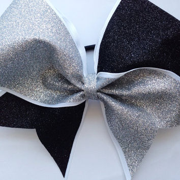 Granite Glitter Cheerleading Bow