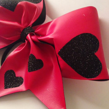 Valentine's Heart Cheerleading Bow