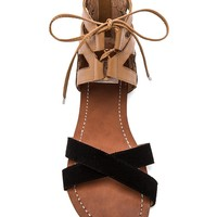 DV by Dolce Vita Fuji Sandal in Black & Nude