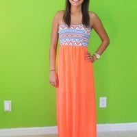 Summer Side Up Maxi: Neon Coral