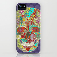 flower skull spot iPhone & iPod Case by Sharon Turner | Society6