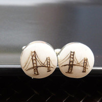 Golden Gate Bridge Cufflinks - Urban San Francisco Landmark
