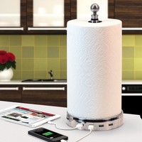 TowlHub (USB paper towel holder with interchangeable topper)
