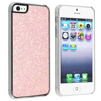niceEshop(TM) Pink Sparkling Glitter Bling Hard Case Cover fit for the new iPhone5 5S +Screen Protector