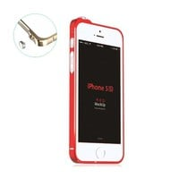 Moon Monkey 0.7mm Ultrathin Clip-on Photive Aluminum Iphone 5 5s Bumper Case (1 Red)