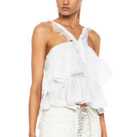 Oletta Ramie Tank in White