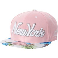 Light pink New York floral trucker hat - hats - accessories - women