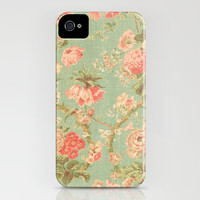 Vintage Flowers - for iphone iPhone & iPod Case by Simone Morana Cyla | Society6