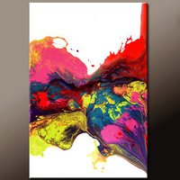 Abstract Canvas Art Painting Canvas 36x24 Original Modern Contemporary Paintings by Destiny Womack - dWo - Pure Joy