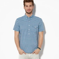 AE STRIPED POPOVER SHIRT